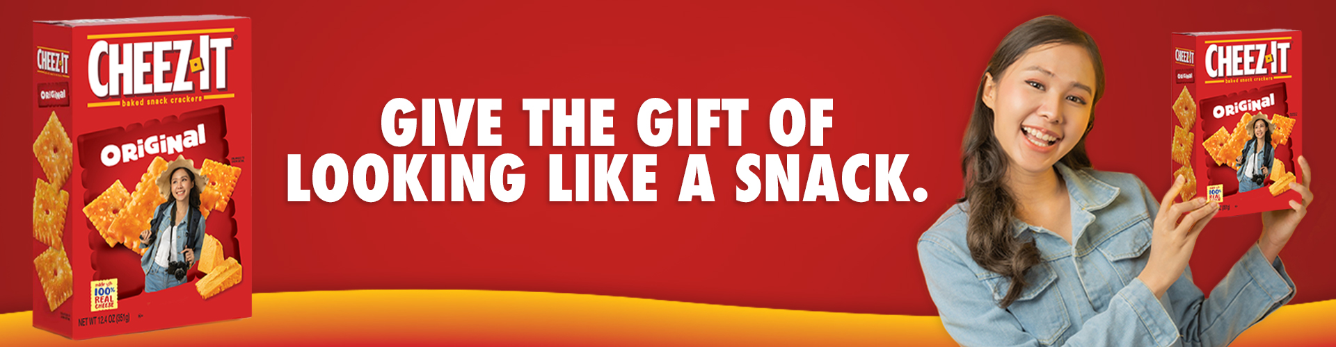 Cheez-It® Photo-on-a-Box, Give the gift of looking like a snack.